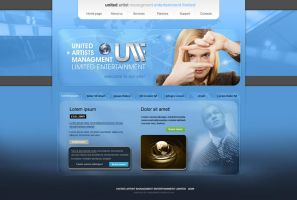 United Artist Website Layout by wiz24
