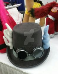 MLP DISCORD STEAMPUNK HAT WITH GOGGLES by kopeskreations