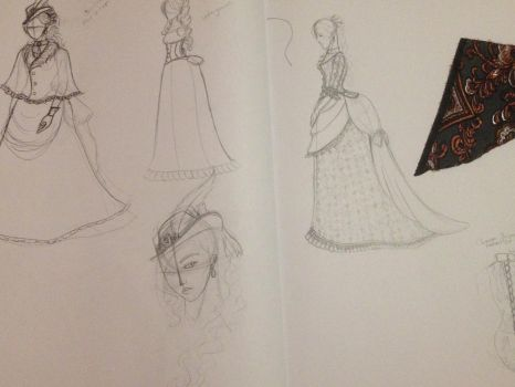 Sketchbook Pages- Cybelle's day dress by TakaraYuuki