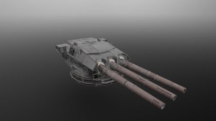 German Turret Weathered and Aged by planetrix15