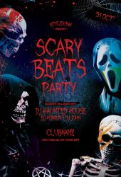 Scary Beats Party Flyer by styleWish