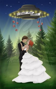 X-files Marriage: Commission by madmoiselleclau