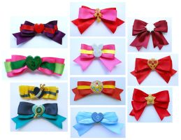 Sailor Moon Inspired Hair Bows for PortConMaine by sakkysa