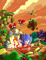 Sonic CD Contest Collision Chaos Zone Past by gsilverfish