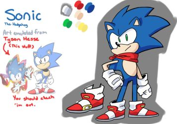 Sonic the Hypothetically Redesigned Hedgehog by AgeOldLegacyStudios