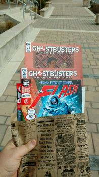 Three Flash And Two Ghostbusters ATC Issues by OtakuDude83