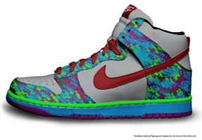 nike high tops by CalledTheBeast
