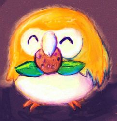 rowlet by superevilgenius