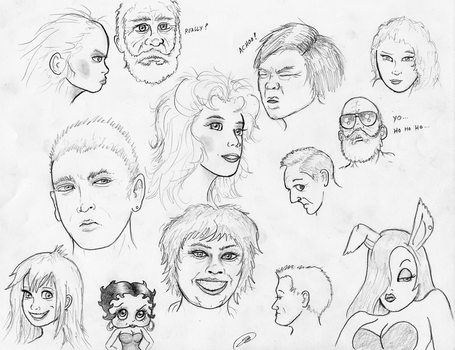 Face Sketches by TheMightyGorga