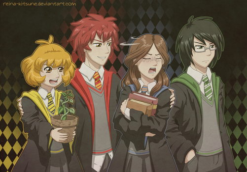 The Founders of Hogwarts by Reina-Kitsune