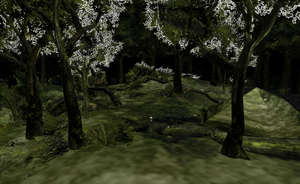 MMD Pretty forest stage by amiamy111