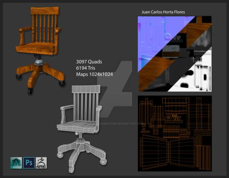 Chair modeling and texturing by Carlitoxmaister
