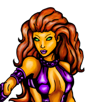 Starfire digital practice by Comix-Chick