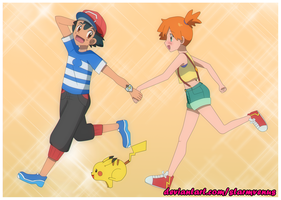 Pokeshipping by StarMVenus