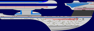 Excelseior Class Starship by captshade