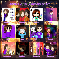 Alicia's 2014 Summary Art by Ary-Lyn