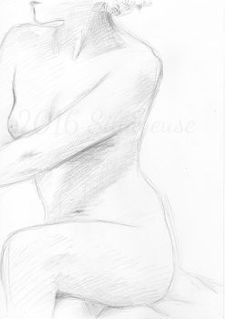 nude drawing class. pose 07 by Sillageuse