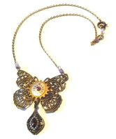 Neo-Victorian Butterfly Necklace by JLHilton