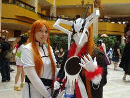 Orihime and Arancar Ichigo by katriona-katarina