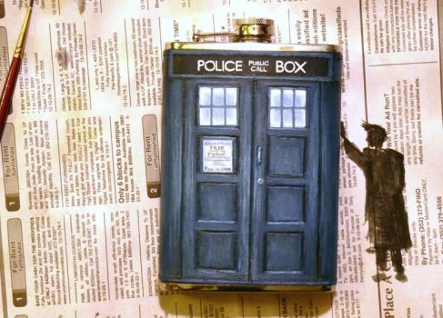 Ten's TARDIS Flask by Whyamithewerewolf
