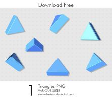 Triangles PNG by manuelvelizan