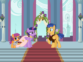 Twilight Sparkle and Flash Sentry wedding Request by TurnaboutArt