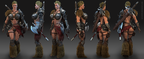 Hanna The Barbarian:Model Sheet by grico316