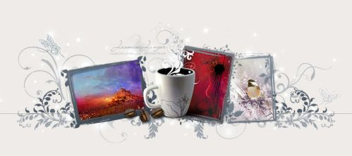 Coffee + Art - Mug Design by kuschelirmel