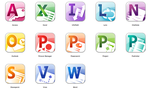 Office 2010 icons by flakshack