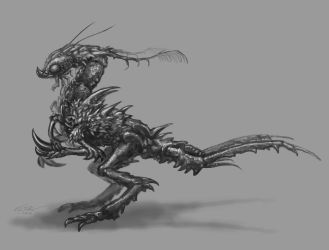 Creature concept study by Eclectixx