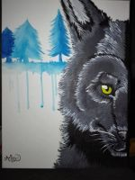 Wolf- Painting - #94 by Alex-TheTinyPaw