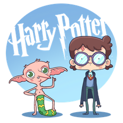 Harry Potter and the sock Dobie! by lost-angel-less