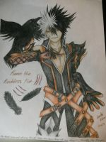Elsword: Raven the Reckless Fist - My Binder Cover by GaleSpider