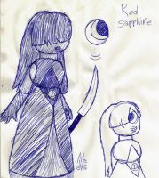 Original Pen Sketch For Red Sapphire by Rosewood-Blaze