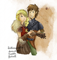 Astrid and Hiccup. by ilcielocapovolto