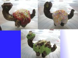 Chocolate sauropod herd  by Sia-the-Mawile