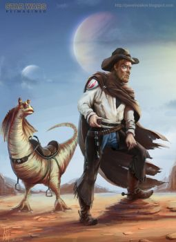 Star Wars Reimagined - Ben Cowboy by Kitpashka