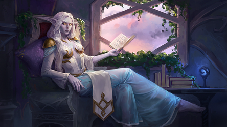 Commission: Highborn elf by Aloija