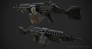 M249 LMG textured by Tom3dJay