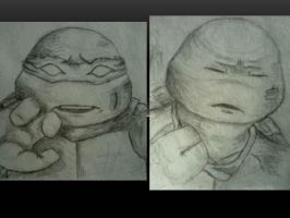 Raph Sketches - First Sight and Walking Away by carriehowarth