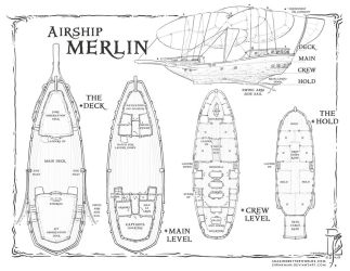 Airship Merlin by SirInkman
