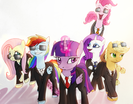 Mane 6, Suited + Suave by AbductionFromAbove