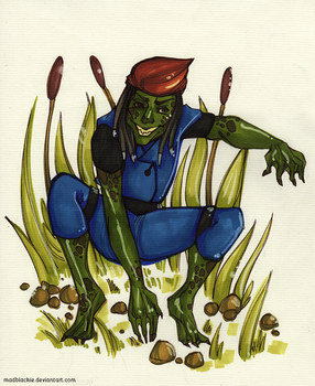 X-Men Week Challenge - Day 4: Toad by MadBlackie
