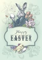Happy Easter The postcard by Inshader