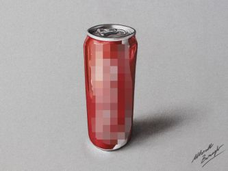 Coca-cola slim can DRAWING by Marcello Barenghi by marcellobarenghi