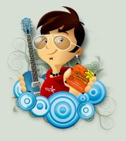 Guitar Player by tutom