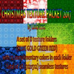 Christmas Texture Pack 2017 by LlolaLane