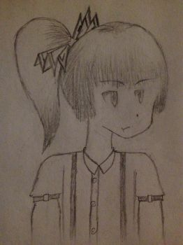 Mokou With a Short Ponytail by Guy-1357