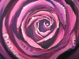 pink rose swirl by jennymacattack