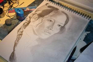 WIP Katniss everdeen by Emmistj